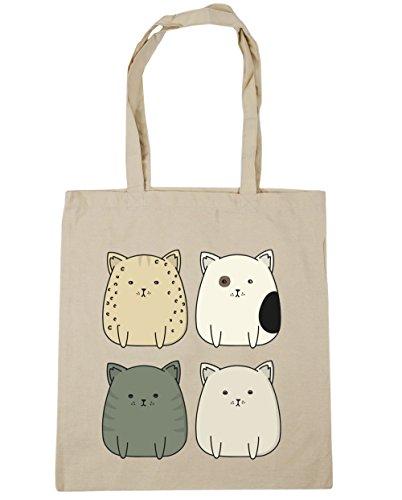 Beach Shopping Squad x38cm HippoWarehouse Natural Gym Kitty 10 42cm Bag litres cat Tote SEwIYqpI