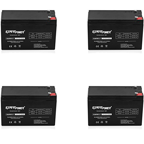 (ExpertPower 12v 7ah Rechargeable Sealed Lead Acid Battery || EXP1270|| Replaces APC Back-UPS ES 500 VA, BE500C, BE500U (4)