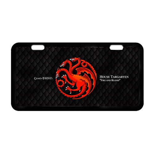 Durable Cool Metal License Plate -Game of Thrones