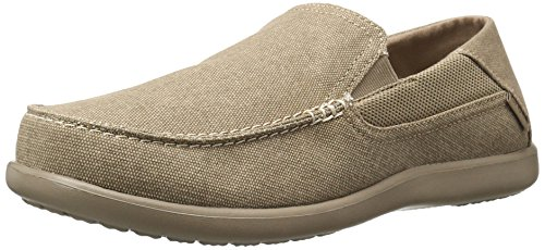 crocs Men's Santa Cruz 2 Luxe M Slip-On Loafer, Khaki/Khaki, 11 M US -