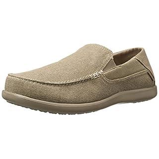 crocs Men's Santa Cruz 2 Luxe M Slip-On Loafer, Khaki/Khaki, 13 M US