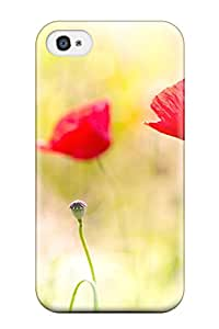 Awesome Case Cover/iphone 4/4s Defender Case Cover(poppy Flowers)