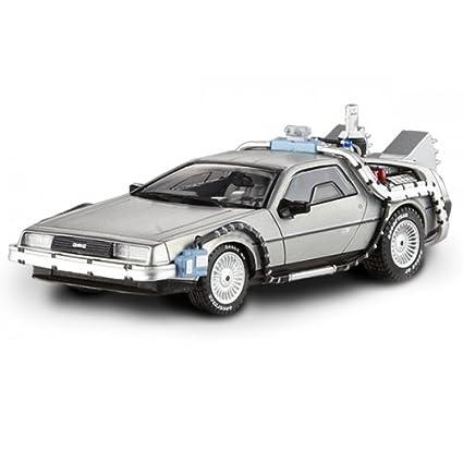 Mattel Coche Die Cast, escala 1:43, diseño Regreso Al Futuro Delorian (