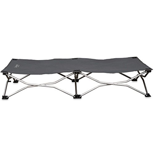 """Carlson Pet Products 8025 Elevated Folding Pet Bed 46"""" Long, Includes Travel Case, Gray"""