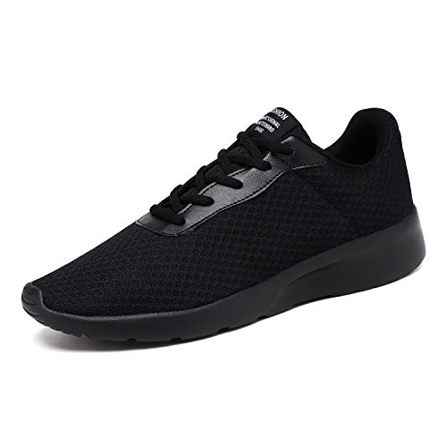 Aszeller Men's Tennis Shoes Lightweight Breathable Mesh Casual Fashion Shoes Athletic Sneakers Comfort Walking Shoes Gym,Black,Men's 8 M US