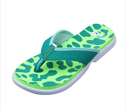 flip-folps Happy Lily ergonómico y antideslizante suela zapatos de piscina Y-STYLE Tanga abierto Toe sandalias zapatos de interior o al aire libre Casual Calzado Zapatillas para mujer Verde