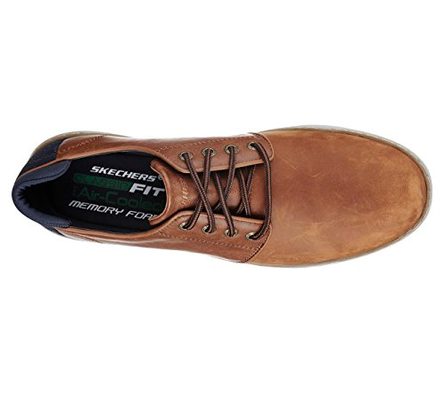 Skechers 65269 Mens Lanson- Vernes Oxford Shoe Luggage