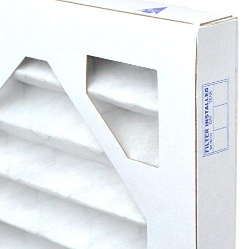 AirXフィルターほこり25x 25x 1エアフィルタMERV 8AC炉プリーツエアフィルタ交換用ボックスの6、Made in the USA