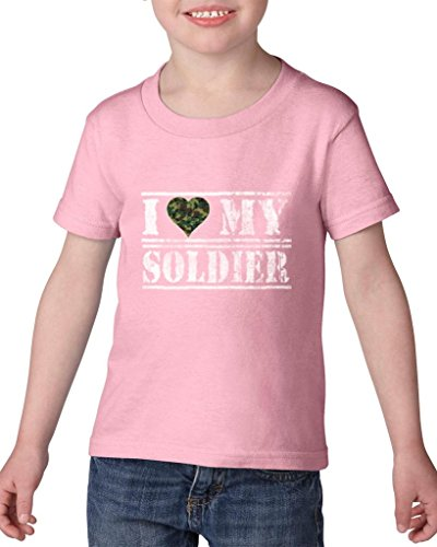 Artix I Love My Soldier US Army People Army Wives Army Men Couples Gifts Heavy Cotton Toddler Kids T-Shirt Tee Clothing 5T Light Pink