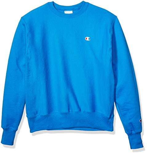 Champion LIFE Men's Reverse Weave Sweatshirt, Running Waves - Left Chest Small ()
