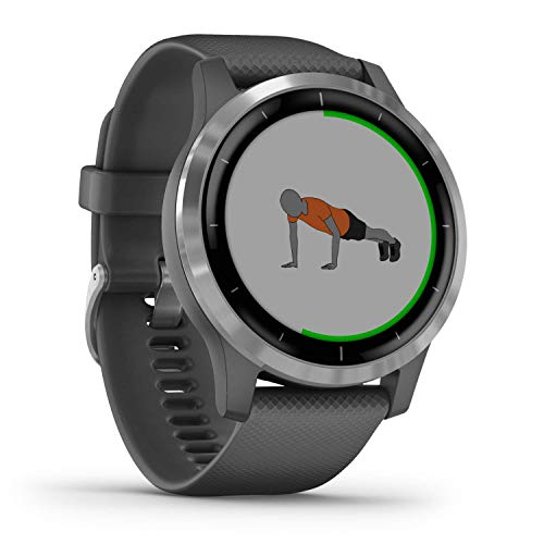 Garmin vívoactive 4 – waterdichte GPS-fitnesssmartwatch met trainingsplannen en geanimeerde oefeningen. Hartslagmeting…