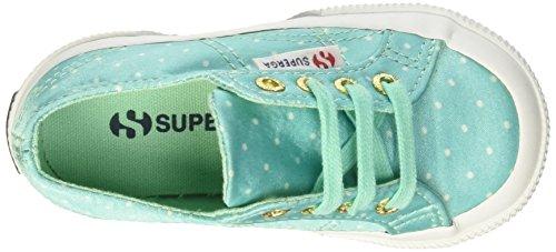 Verde Dotssatinj Dotswhite Mädchen Low 2750 Top Aquamarine Superga wqzTXOq
