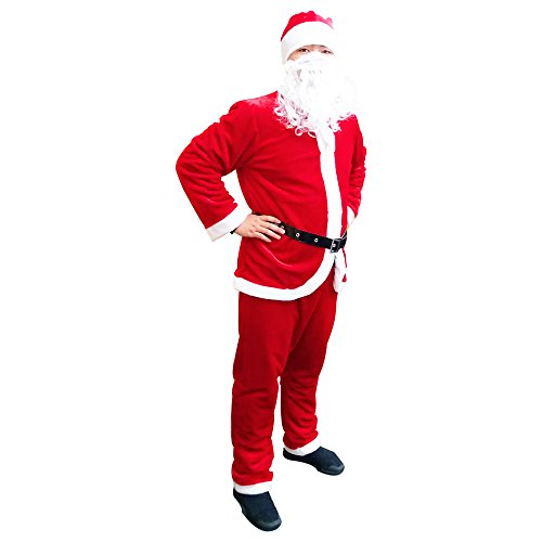 Suit Costumes Ideas (Fanme Santa Claus Suit Christmas Flannel Costume For Men (Red))