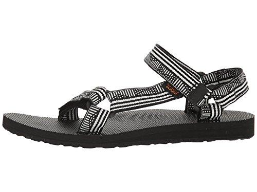 Teva Womens Originale Sandalo Universale Campo Nero / Bianco