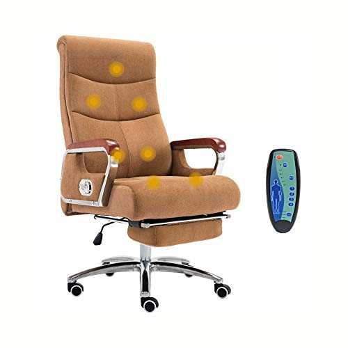YWYF Boss Office Products, Reclining Computer Chair, Lifting Swivel Chair, Cloth Art Chair for Home Study Staff Office…