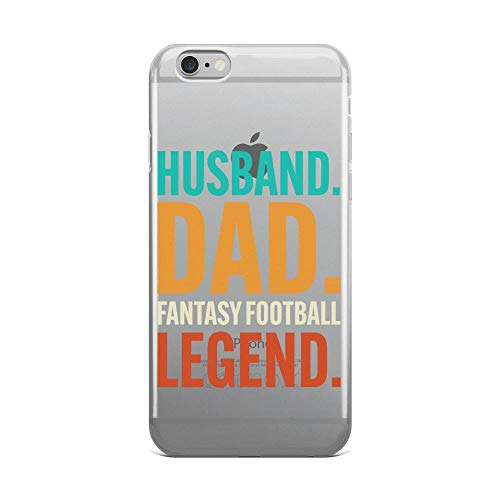 Mens Husband Dad Fantasy Football Legend Vintage Retro Style Anti-Scratch Shockproof Case for iPhone 6 Plus/6s Plus Pure