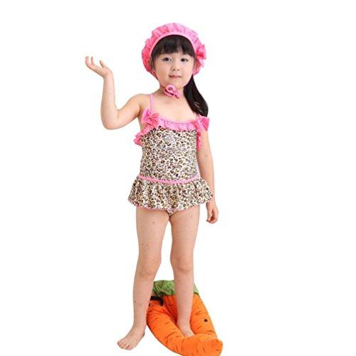 Usstore Kid Girls Children Toddler One-Piece Leopard Print Swimsuit Bikini (2 (1-2Y))