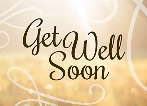 Get Well Greeting Cards - GW1602. Business Greeting Card Featuring a Get Well Soon Message and Swirl Designs. Box Set Has 25 Greeting Cards and 26 Bright White Envelopes.