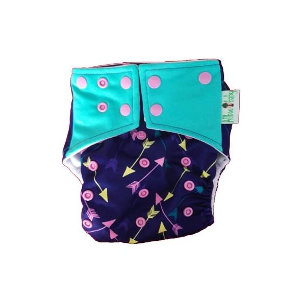 Allboutbaby Reusable pocket Cloth Diaper with stay dry insert- arrows