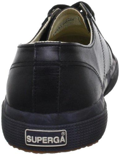 Superga 2750 FGLU S001TT0 - Zapatillas de cuero unisex Negro (Schwarz/A09 Full Black)