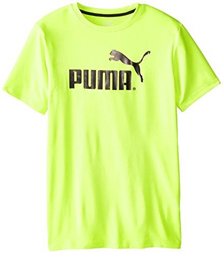 PUMA Big Boys' No.1 Logo Tee, Active Green, 10-12 (Medium)
