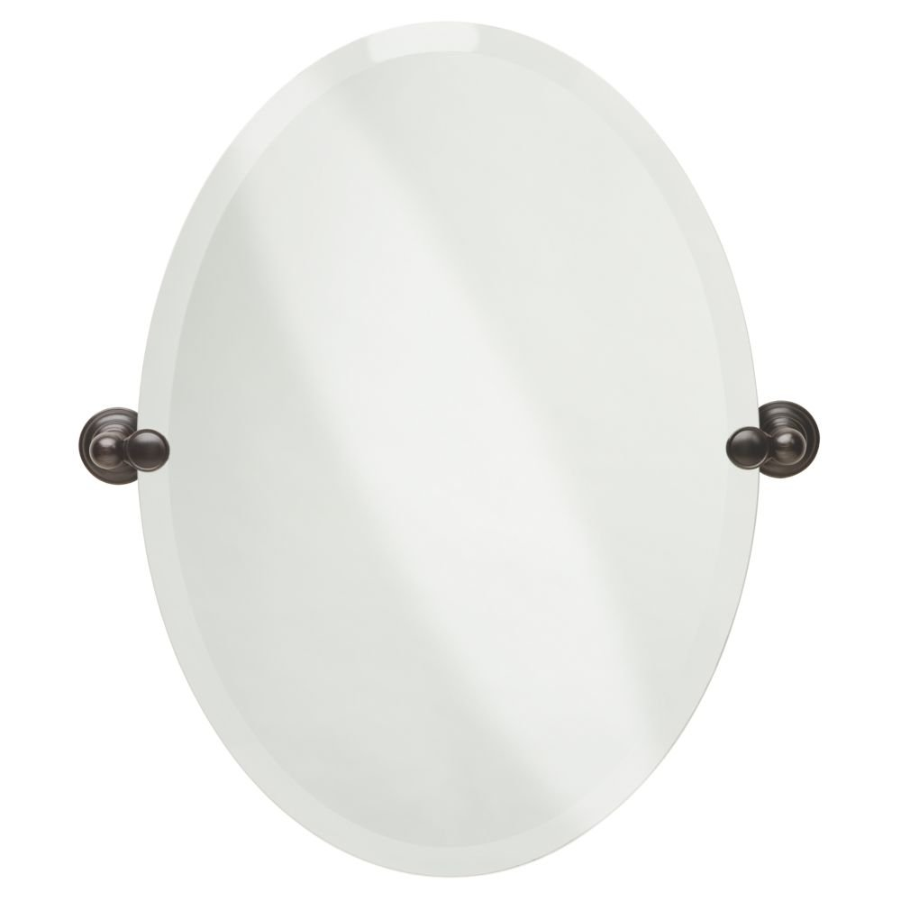 Delta Faucet 134442 Providence Bath Accessory, Oval Mirror, SpotShield Venetian Bronze