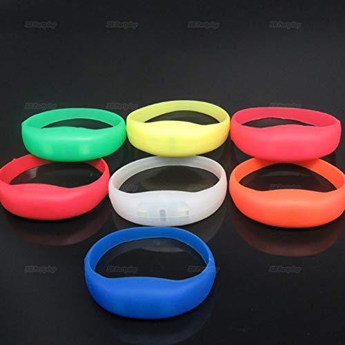 Aquatx Light Up Bracelets Flash LED Light Party Concert Show Silicon Bracelet Bangle Wristband Unisex Voice Control LED Light Up Silicone Bracelet by Aquatx