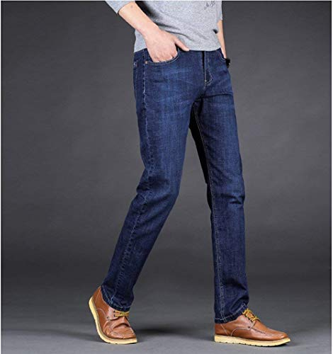 Slim Blau Lavoro Uomo Diritti Jeans Stretch Huixin Retrò Da Skinny Ssig Pantaloni 4qzxPA