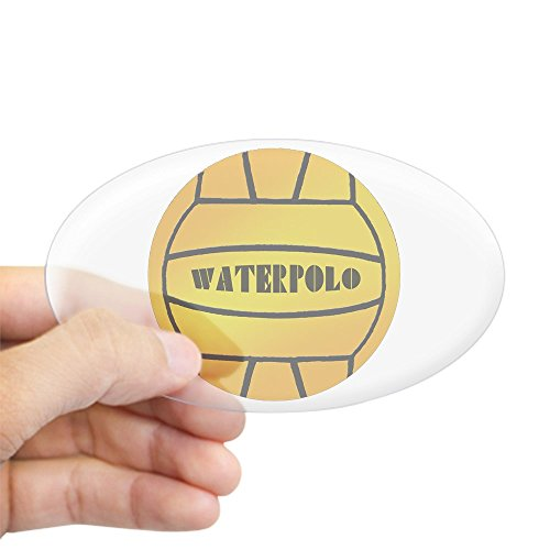 Water Polo Sticker Bumper - CafePress - Yellow Water Polo Ball Oval Sticker - Oval Bumper Sticker, Euro Oval Car Decal