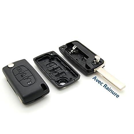 Carcasa llave Jongo mando a distancia Botón Faro CITROEN C4 Picasso con ranura: Amazon.es: Juguetes y juegos