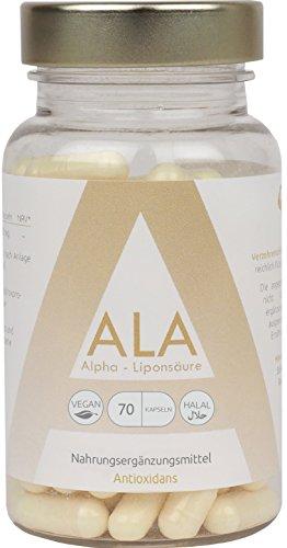 GYM-NUTRITION ALA Alpha - Liponsäure | Hochdosierte 250mg 90 vegane Kapseln | Universelles Antioxidant |100% Geldzurückgarantie