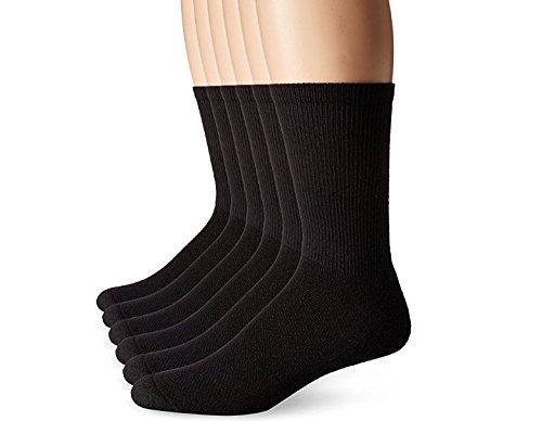 Black X-Temp Comfort Cool Vent Crew Socks (Shoe Size 6-12), 12-pack