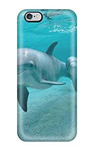 Iphone 6 Plus Case Bumper Tpu Skin Cover For Dolphins Accessories(3D PC Soft Case)