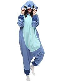 Adult Onesie Animal Pajamas Halloween Cosplay Costumes Party Wear Blue