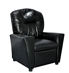 Imperial Officially Licensed NFL Furniture: Youth Faux Leather Recliner, Philadelphia Eagles