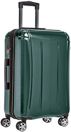 Amazon Basics Oxford Expandable Spinner Luggage Suitcase with TSA Lock - 26.8 Inch, Green