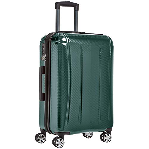 AmazonBasics Oxford Expandable Spinner Luggage Suitcase with TSA Lock - 24 Inch, Green