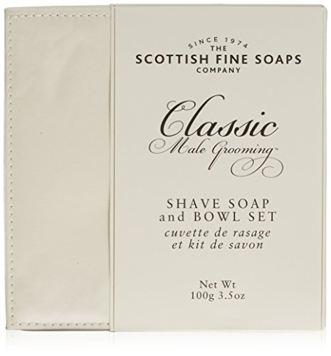 Scottish Fine Soaps Classic Male Grooming Shave Soap & Bowl Set From Scotland by Scottish Fine Soaps