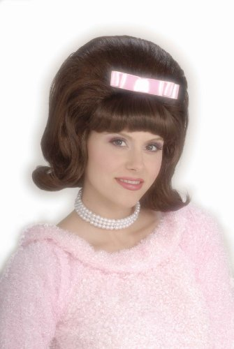 Forum Novelties Women's Flirting with The 50's Bouffant Costume Wig, Brown, One Size ()