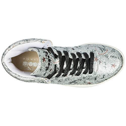 Biro Nuove Donna Scarpe Pelle Alte Basket Argent Sneakers Diadora Heritage Mi In 6C0qv61w