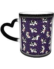 Oaieltj Warmte veranderende mok, grappige koeien gepersonaliseerde warmtegevoelige koffie mok melk thee cup magische koffie kopjes gesneden mokken
