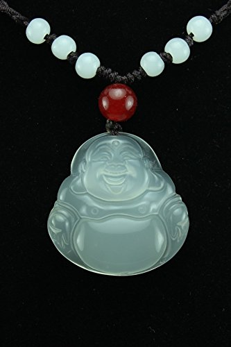 Fashion Jade Pendants (Generic Natural white jade Buddha pendant Sui fashion agate jewelry pendant necklace gift accessories direct delivery chain)