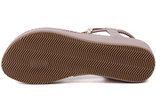 Thong Sandalias Mujer de BIGTREE Verano Playa Plataforma Franja Cuña Bohemio Sandalias Morado