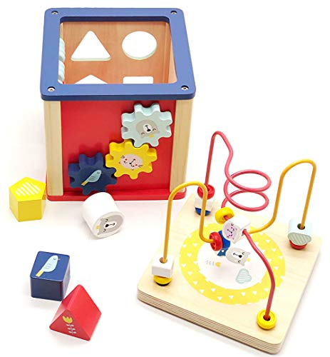 LEO & FRIENDS Activity Cube Wooden Toys for 1,2 Year Old ...