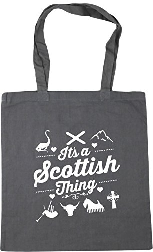 10 42cm Tote x38cm a litres Bag It's Shopping Graphite Gym Beach thing Grey Scottish HippoWarehouse 1zpPqw