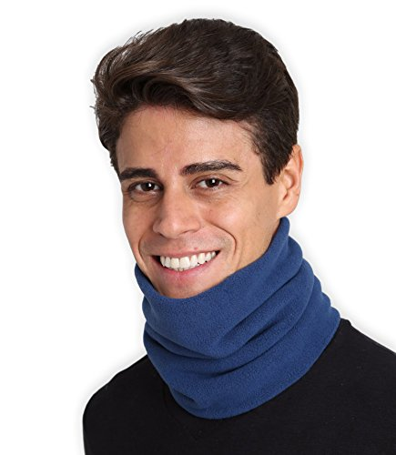 Fleece Neck Warmer - Neck Gaiter Tube, Ear Warmer Headband & Face Mask. Ultimate Thermal Retention, Versatility & Style. Constructed with Super Soft Fleece & Microfiber (Style Neck Warmer Fleece)