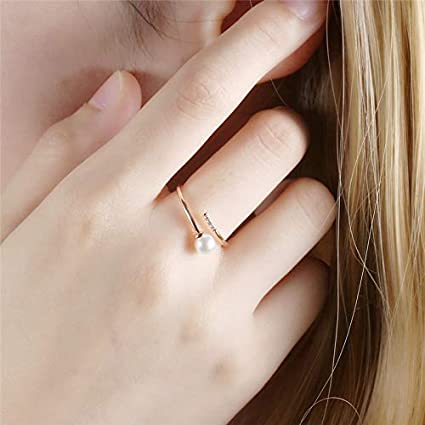 Amazon.com: DHmart Fashion Bague Adjustable Open Rings for ...