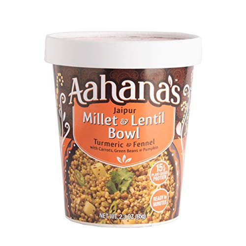 Aahana's Lentil and Rice Bowls - Gluten Free, NON-GMO, Vegan Food with 15g Plant-Based Protein - Ready-to-Eat, Vegetarian Meals, Just add Water - No Refrigeration Required - Variety 4- Pack 2.3 Oz 2