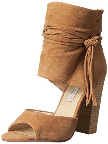 Chinese Laundry Kristin Cavallari Women's Leigh-2 Two Piece Sandal, Dark Camel Suede,  7 M US