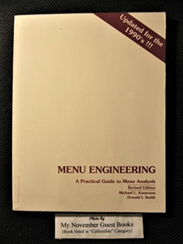 Menu engineering: A practical guide to menu analysis (Chairs Hospitality Dining)